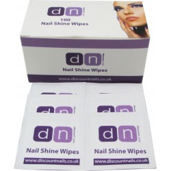 DN Nail Shine Wipes Box of 100 Sticky Residue Remover