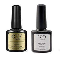 CCO No Wipe Top and Base Coat Set  (7.3ml)