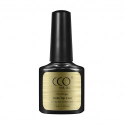 CCO Matte Top Coat 7.3ml No Wipes Nail Gel Polish Soak Off UV LED