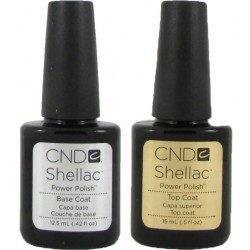 CND Shellac Top (15ml) and Base Coat Set (12.5ml)