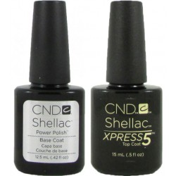 CND Shellac Xpress Top (12.5ml)and Base Coat Set (15ml)