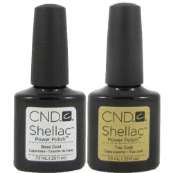 CND Shellac Top and Base Coat Set (7.3ml)