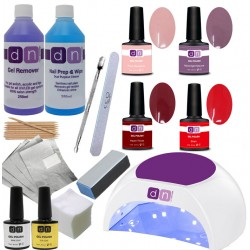 DN Nail Kit Set 4 Gel Polish Colours With Choice Of Lamp