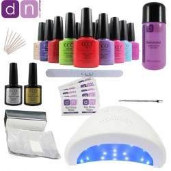CCO Professional UV Gel Nail Starter Kit 48W LED UV Lamp