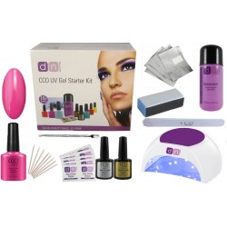 Hot Pop Pink Deluxe 1 Colour Nail Gel Kit With Choice of Lamp