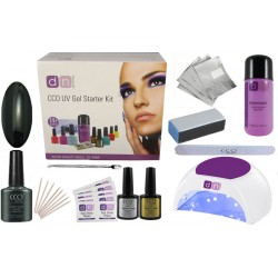 Black Pool Deluxe 1 Colour Nail Gel Kit With Choice of Lamp