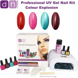 Colour Explosion - CCO Professional 4 Colour UV Gel Nail Starter Kit