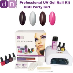 Party Girl - CCO Professional UV 4 Colour Gel Nail Starter Kit
