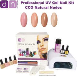 Natural Nudes - CCO Professional 4 Colour UV Gel Nail Starter Kit