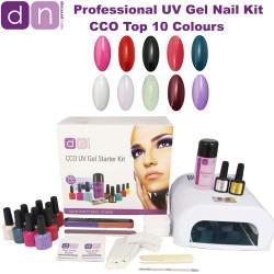 Top 10 Colours - CCO Professional 10 Colour UV Gel Nail Starter Kit