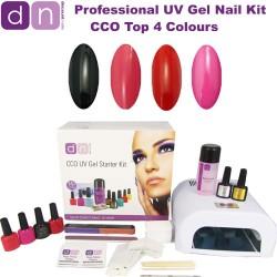 Top 4 Colours - CCO Professional 4 Colour UV Gel Nail Starter Kit