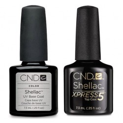 CND Shellac Xpress Top and Base Coat Set (7.3ml)